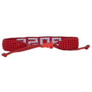 Red / Light Blue BOSS Woven Bracelet