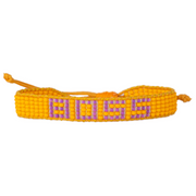 Orange / Purple BOSS Woven Bracelet