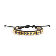 Navy and Gold Msalaba Tribal Bracelet