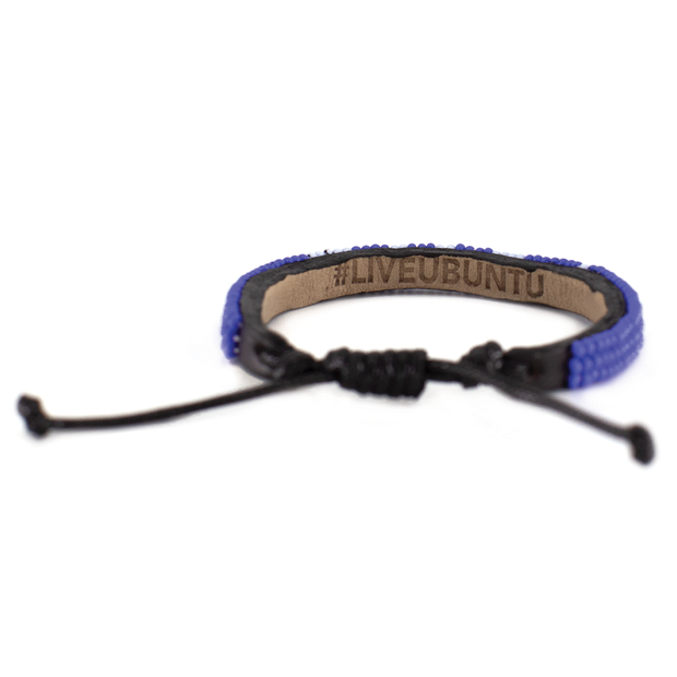 Cobalt and White Skinny Love Bracelet