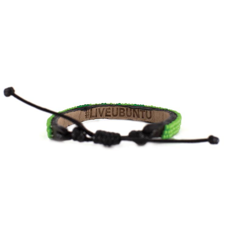 Lime Green and Translucent Green Skinny LOVE Bracelet