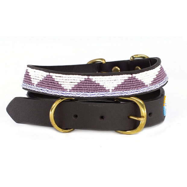 Lavender Triangle Dog Collar