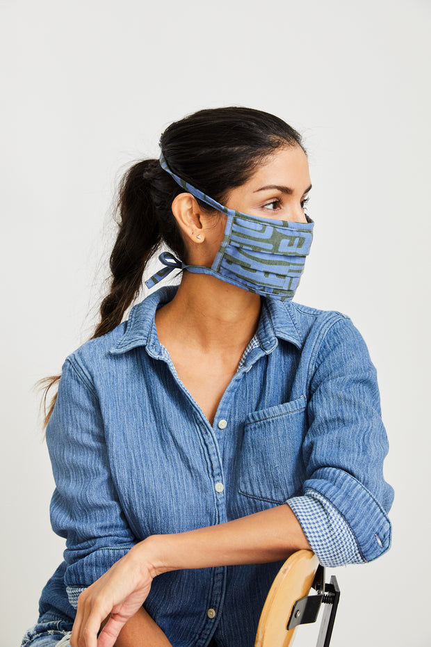 Soft Blue/Olive Kuba Mask