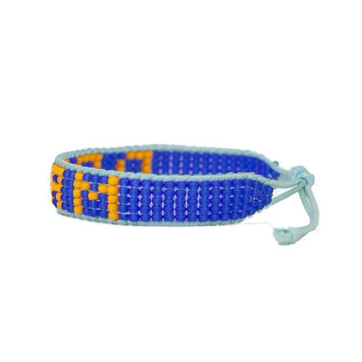 Dark Blue / Orange DREAM Woven Bracelet