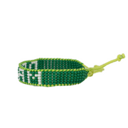 Green / Light Blue DREAM Woven Bracelet