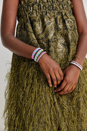 Pink and Green Skinny Uzuri Bracelet