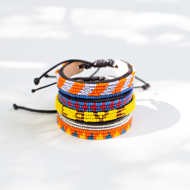 Blue and Red Msalaba Bracelet