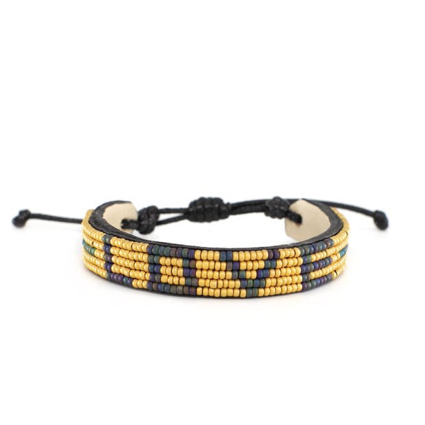 Gold and Navy Love Bracelet