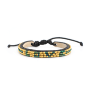 Green and Gold Skinny Love Bracelet