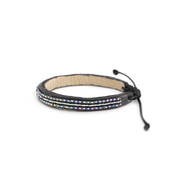 Navy and Gold Micro Mrembo Bracelet
