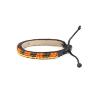 Striped Orange and Cocoa Mstari Bracelet