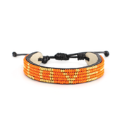 Orange and Gold LOVE Bracelet