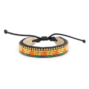 Orange and Gold Piramidi Bracelet