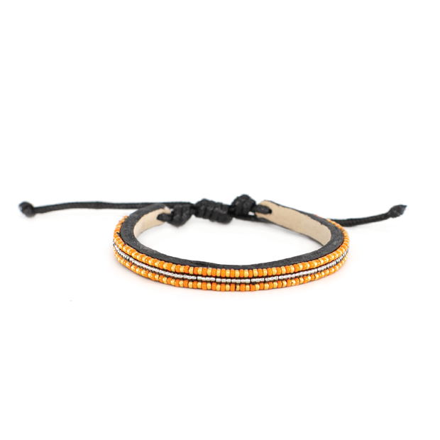Orange and Gold Micro Mrembo Bracelet
