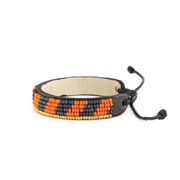 Orange and Navy Striped Mstari Bracelet