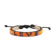Orange and Navy Skinny LOVE Bracelet