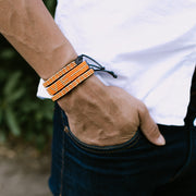 Orange and Gold Msalaba Tribal Bracelet