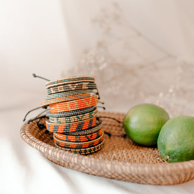 Cocoa and Green Nija Bracelet