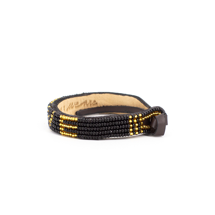 Black and Gold Love Bracelet