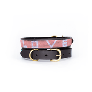 Pink Love Dog Collar