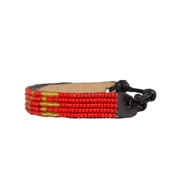 Bright Red / Gold LOVE Bracelet