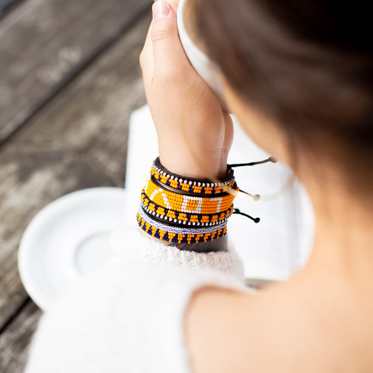 Sunflower Yellow Sherehe Bracelet