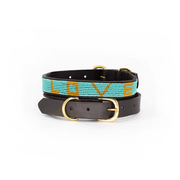 Teal Love Dog Collar