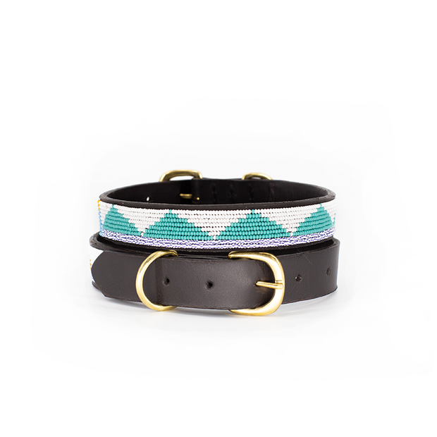 Teal Triangle Dog Collar