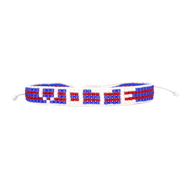 red white and blue bracelets