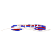 Striped Red & Blue VOTE Woven Bracelet