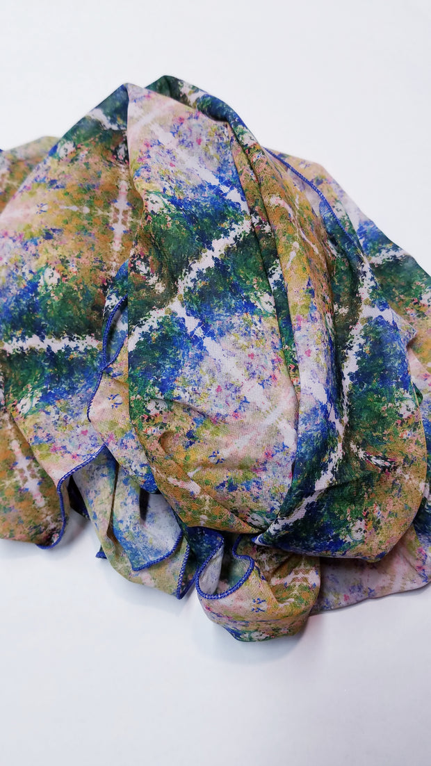 "Bamboo Scarf ""The Garden IV"""