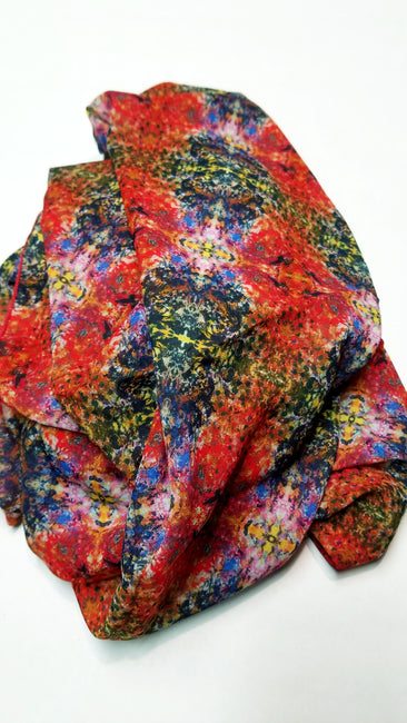 "Bamboo Scarf ""Fire and Ice"""