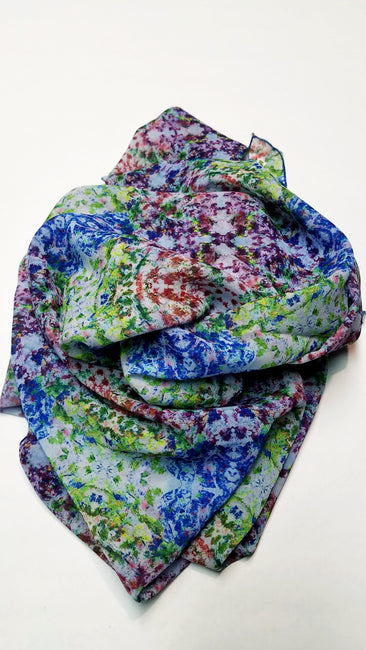 "Bamboo Scarf ""The Garden III"""