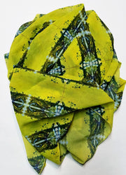 "Bamboo Scarf ""Bands of Brilliance"""