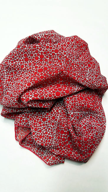 "Bamboo Scarf ""Richness of Red"""