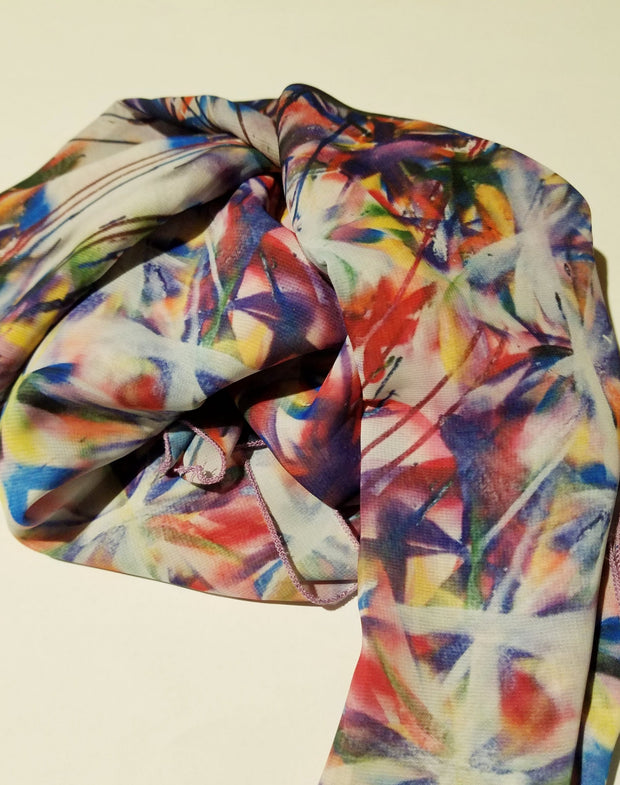 "Bamboo scarf, ""The Garden"" (limited production)"