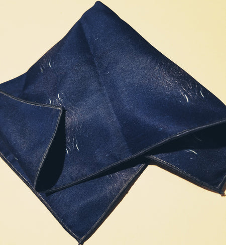 "Pocket Square: ""Color Field: Azure"""