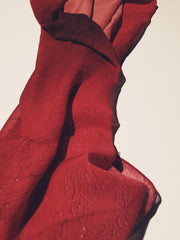 "Bamboo Scarf, ""Color Field Crimson"" (limited production)"