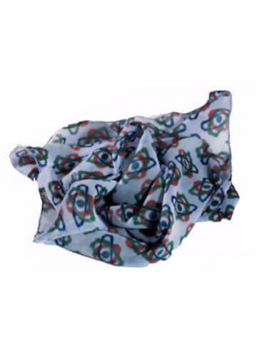 "Bamboo Scarf, ""Abstracted Science"" (limited production)"