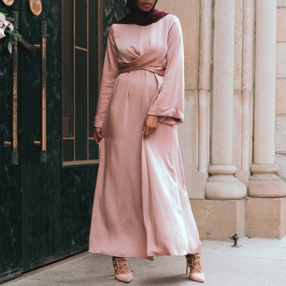 IMAN WRAP DRESS - MAUVE