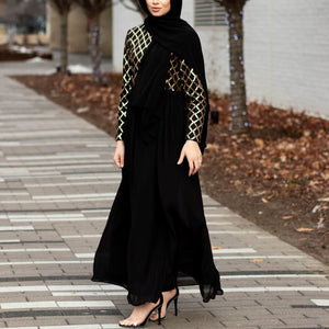 FAIRYDUST BLACK SEQUIN CHIFFON DRESS