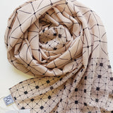 NUDE-GEO LUXE GEORGETTE SCARF