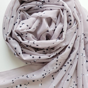 STONE SPECKS LUXE GEORGETTE SCARF