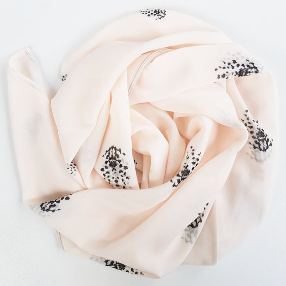 ENIGMA IVORY LUXE GEORGETTE SCARF