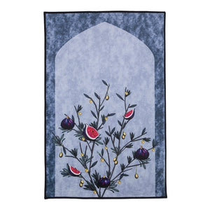 QENZA PRAYER MAT - DAMASCUS (AZURE)