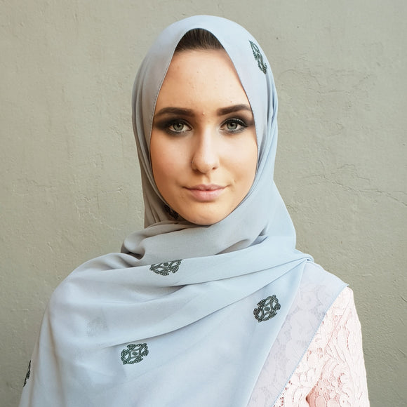 ESSENTIALS COBBLESTONE LUXE GEORGETTE SCARF