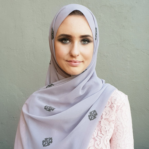 ESSENTIALS LILAC LUXE GEORGETTE SCARF