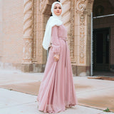 WHIMSICAL BLUSH EMBOSSED DRESS