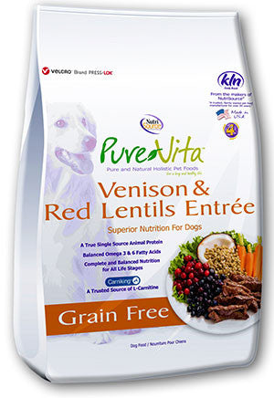 Pure Vita Venison & Red Lentils Dry Dog Food