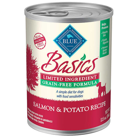 Blue Basics Limited Ingredient Salmon & Potato Canned Dog Food